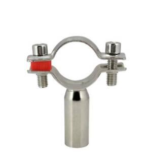φ32 OD 32mm Sanitary Bracket Pipe Fitting Ajustable Clamp Stainless Steel 316
