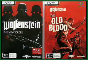 Details about Wolfenstein: The New Order + The Old Blood PC Game Combo  **New/Sealed/AU Stock**
