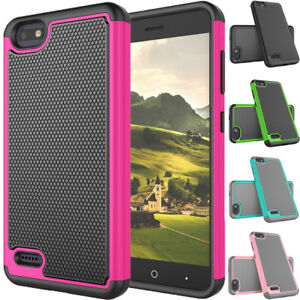 new styles aa8c8 92ed2 Details about For ZTE Blade X/Blade Force/Warp 8/N9517/Z965 Shockproof  Hybrid Rugged Case Skin