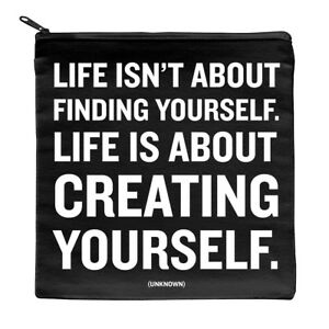 Make-up-Pouch-Famous-Quote-canvas-accessory-storage-zip-cosmetic-bag-Gift-idea