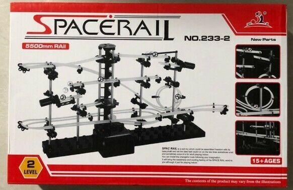 Level-1 Marble Run Roller Coaster Kid Space Rail Building Spacewarp Kit Gift Toy