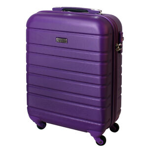 Hand-Luggage-Hard-Wheeled-Case-Cabin-Bagage-30-Litre-Purple-815-B