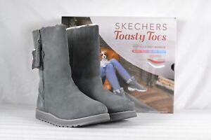 Women-039-s-Skechers-Keepsakes-Fuzzy-Feeling-Boots-Charcoal