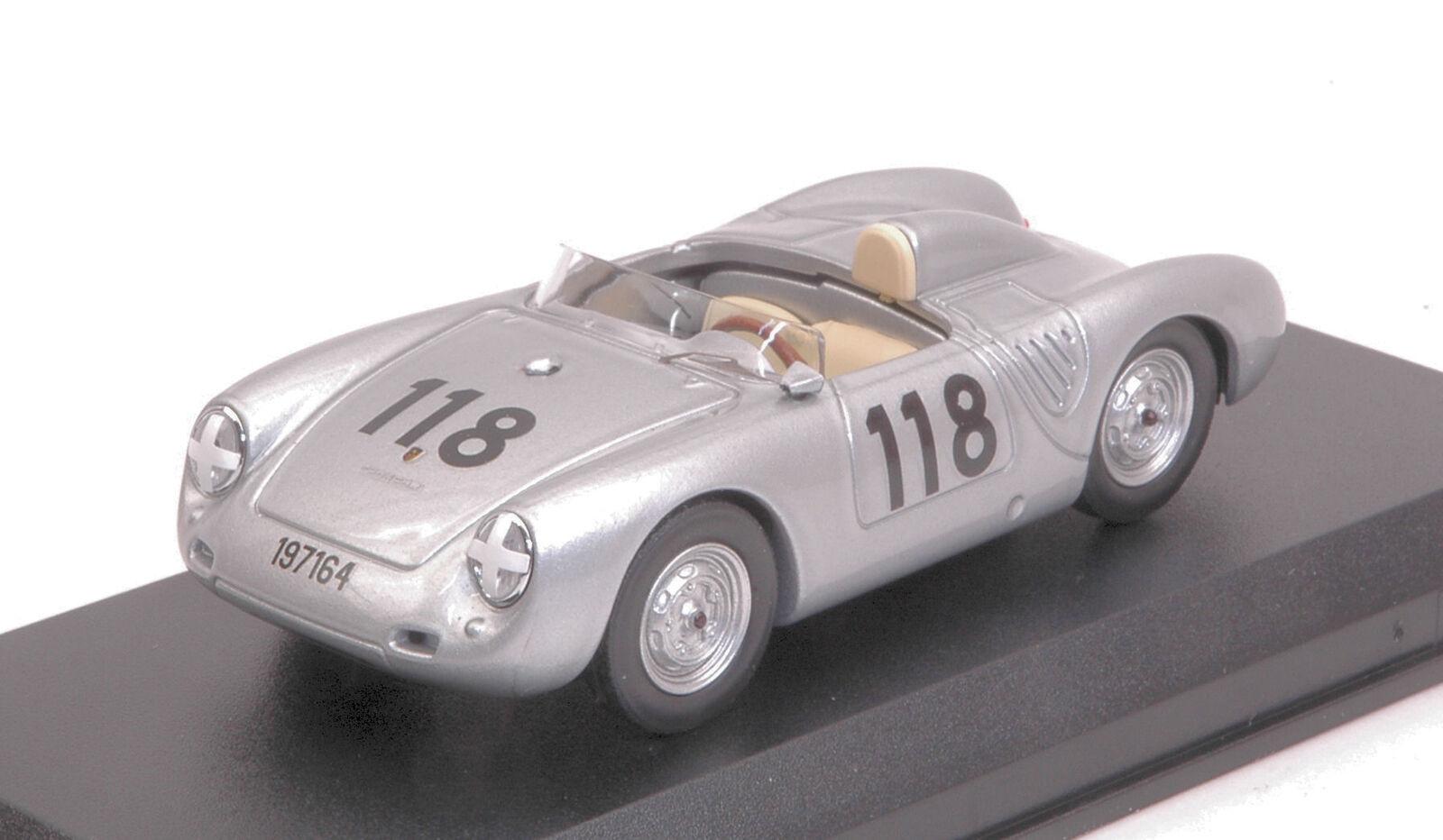 Porsche 550 Rs  118 2nd Targa Florio 1959 Mahle    Strahle   Linge 1 43 Model  pas cher