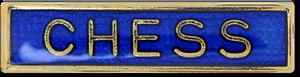 Chess Bar Pin Badge in Blue Enamel