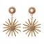 Fashion Women Long Crystal Heart Earrings Rhinestone Wedding Drop Dangle Jewelry