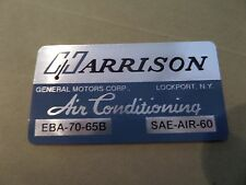62 63 64 65 Impala Belair Biscayne AC Evaporator Box Decal Harrison EBA-70-65B