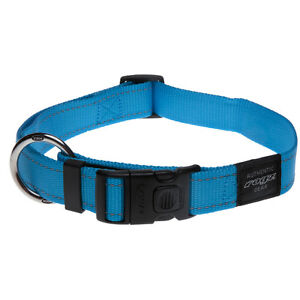Rogz Dog Collar Side Release Utility  Lumberjack X-Large fits 17-29in -Turquoise