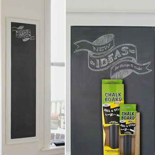 Contact Adhesive Chalk Board Paper Peel & Stick Roll 12 Inches X 4 Feet Size