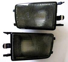 VW Golf Jetta MK3 3 III Black Smoke Euro E-Code Front Bumper Turn Signal Lights