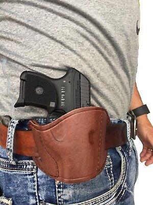 ( Owb ) In Pelle Marrone Pistole Fondina Per Davis P-380 Fornitura Sufficiente