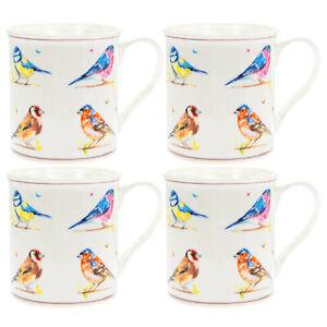 Country-life-birds-set-of-4-fine-china-mugs