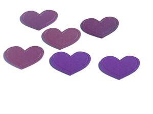 Kleine-Wolke-Minis-Herz-Violett-Deko-fuer-Dusche-und-Badewanne-6-Stueck-Hochwertig