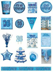 16-16th-Birthday-Blue-Glitz-Party-Range-Party-Plates-Napkins-Banners-Cups