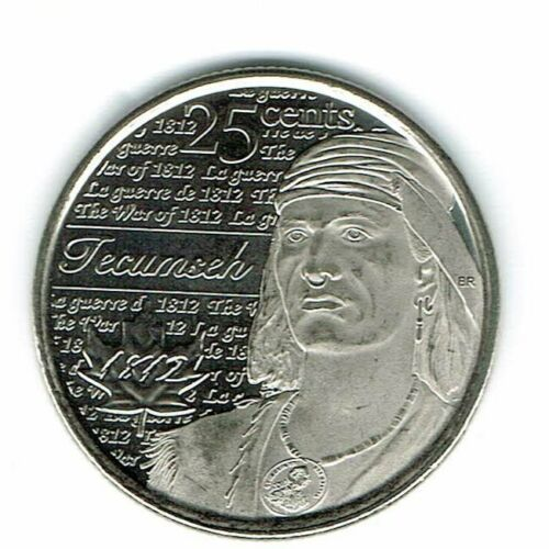 2012 Canadian Brilliant Uncirculated Commemorative Tecumseh 25 Cent Coin!
