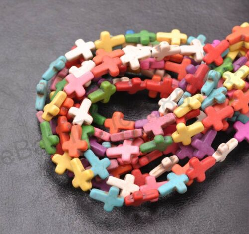 """16/"""" 1 Strand nacres turquoise Side Ways traverse Spacer Beads 15X12MM"""