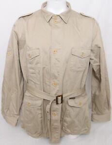 BERETTA-khaki-tasche-Cintura-Colletto-A-Bottone-All-039-aperto-Giacca-Safari-Uomo-48