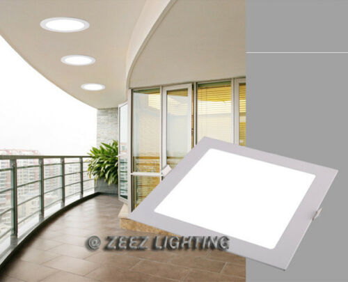 """12W 6/""""Square Cool White LED Recessed Ceiling Panel Down Lights Bulb Lamp Fixture"""