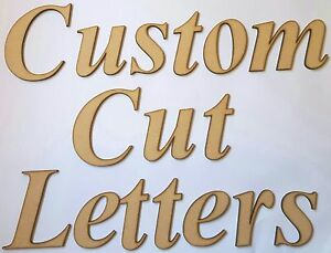 Custom cut mdf wooden letters 40cm tall 3mm thick wood fonts names image is loading custom cut mdf wooden letters 40cm tall 3mm spiritdancerdesigns Gallery