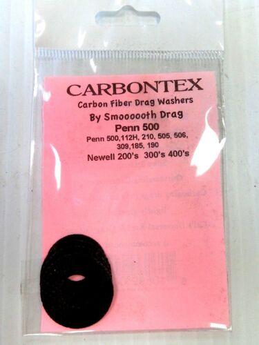 Newell 200-400 Carbontex Carbon Fiber Drag Rondelles Penn 500 Penn 112 H 210 505