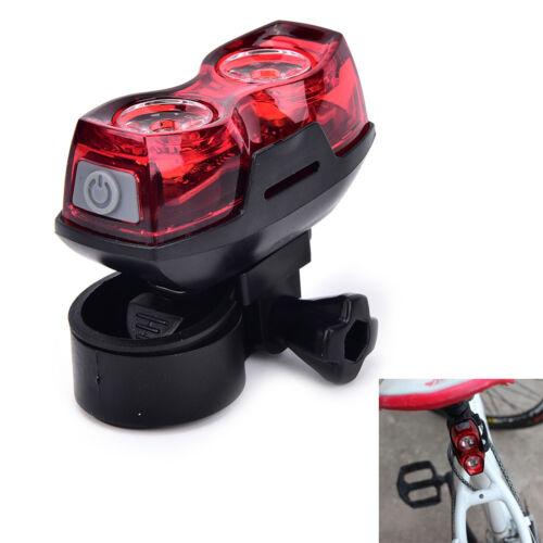 2LEDlumineux vélo de sécurité arrière de la queue clignotant feuarrière lampe /_F