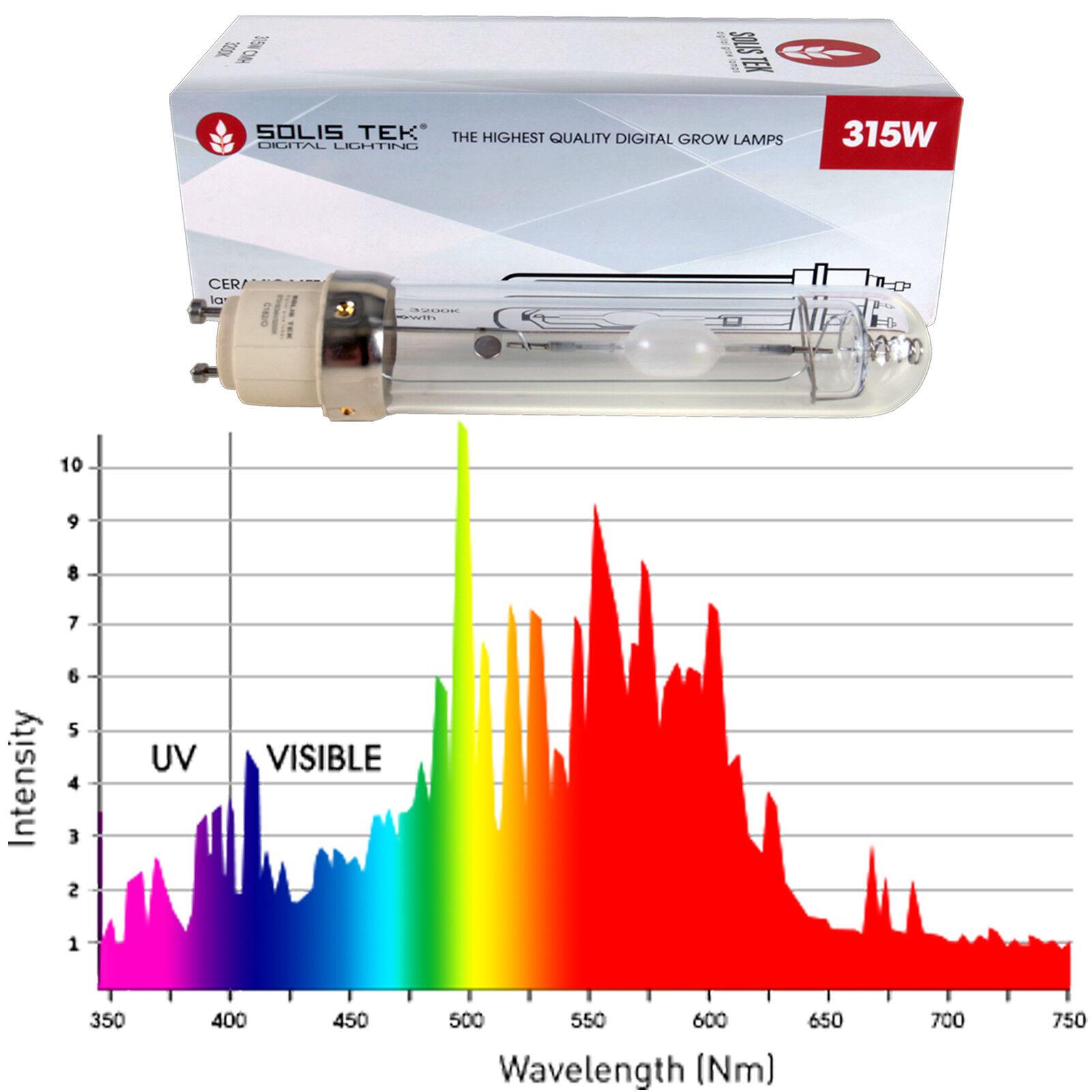 Solistek 315 W Cerámica Metal Halide 3200K Lámpara 1-4 Bombillas CDM hidropónica crecer
