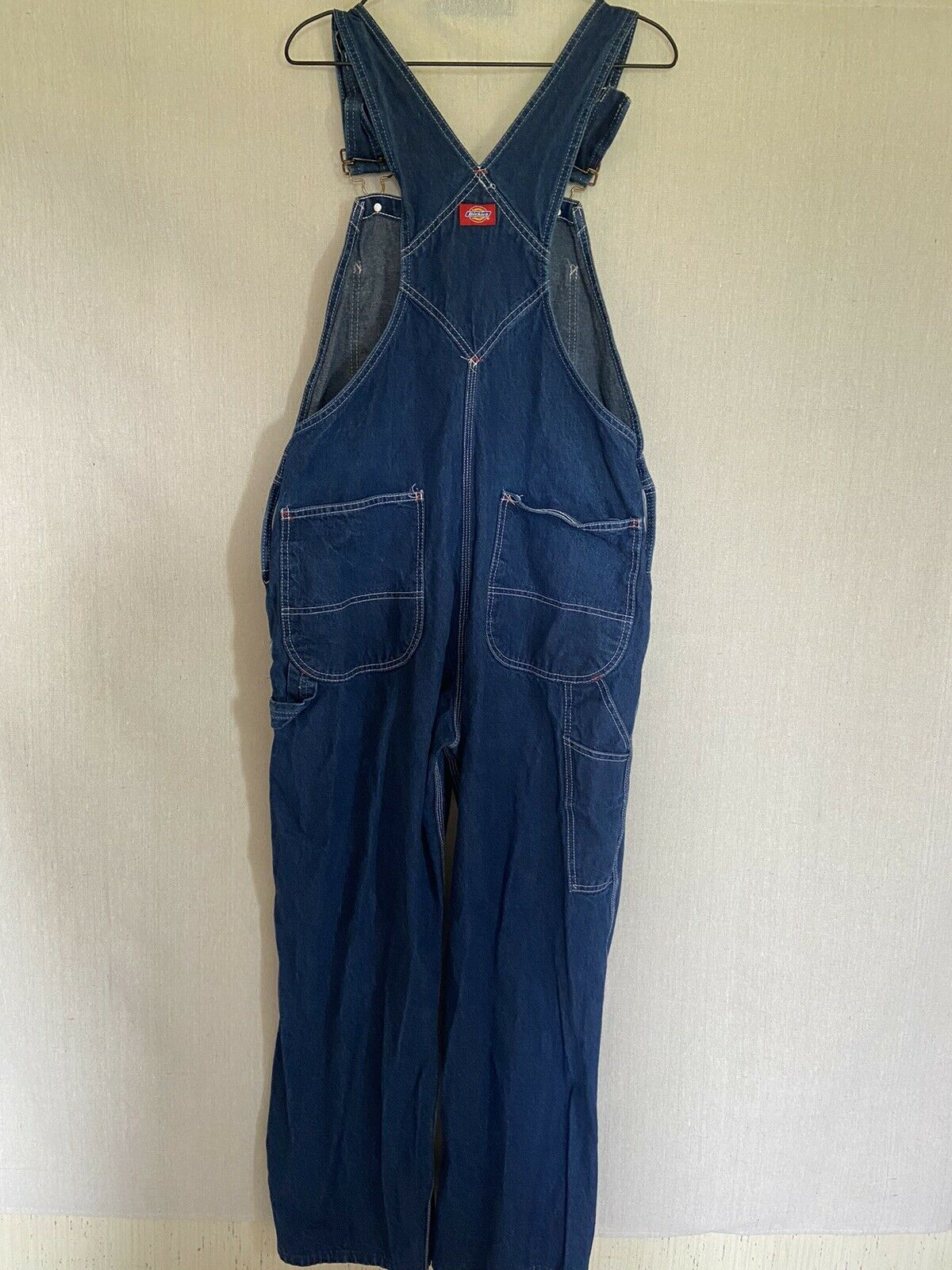 Dickies Denim Overalls Size 38x30 Fit 36x29 - image 5
