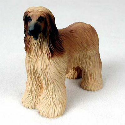 Afghan Hound Hand Painted Dog Figurine Statue