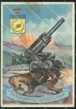 Militari V Reggimento Artiglieria Armata PIEGHINA FG cartolina XF3868