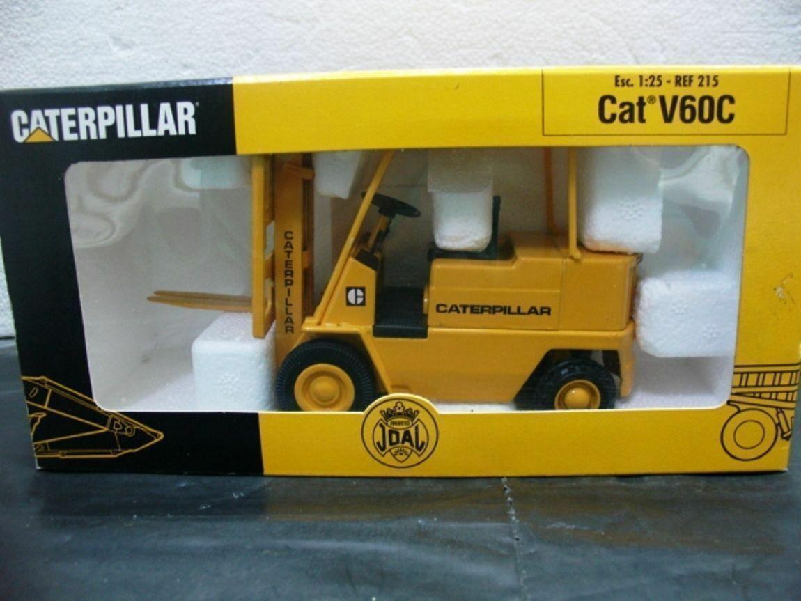 Wow extrêmement rare  215 Caterpillar V60C Chariot Élévateur à Fourche jaune foncé 1 25 Joal