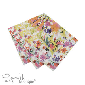 FLORAL-FIESTA-PAPER-CANAPE-NAPKINS-x40-Summer-Garden-Party-FULL-RANGE-IN-SHOP