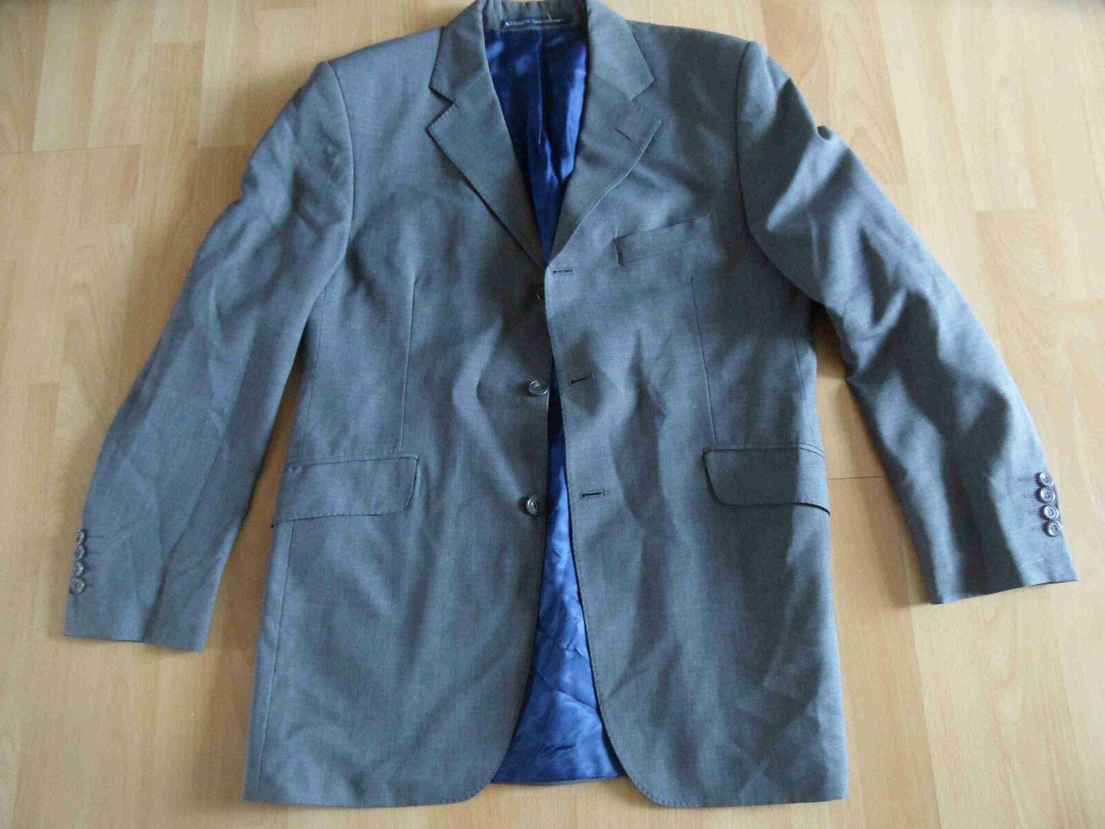 MARKS & SPENCER schöner Anzug grau Wolle Mohair Gr. 102 / 34/31 TOP  (KSA 314)
