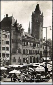 BASEL-Bale-Schweiz-alte-AK-Postkarte-50er-J-gebraucht