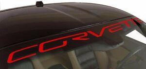"Chevy Corvette Windshield Vinyl Decal Sticker Custom 40"" Vehicle Logo RED"
