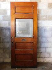Antique Victorian Interior Glass Door - C. 1885 Butternut Architectural Salvage