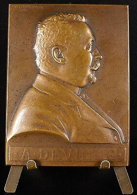 Eerzuchtig Medaille 1912 Alphonse Deville Conseil Municipal De Paris Sc Prud'homme Medal Tegen Elke Prijs
