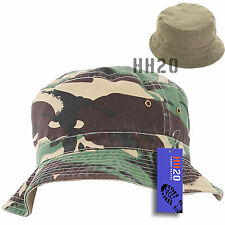c4cd134b Bush Hat Camouflage Reversible Bucket Mens Ladies Surf Camo Sun Summer  Fishing