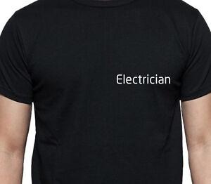 ELETTRICISTA-T-SHIRT-MAGLIETTA-PERSONALIZZATA-Lavoro-Camicia-personalizzato
