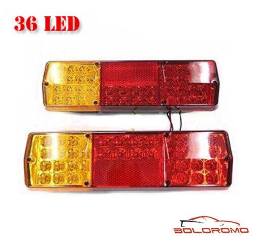 12V 36 LED Rear Tail Lights Indicator Stop Light Van Minivan Bus Minibus Pick Up