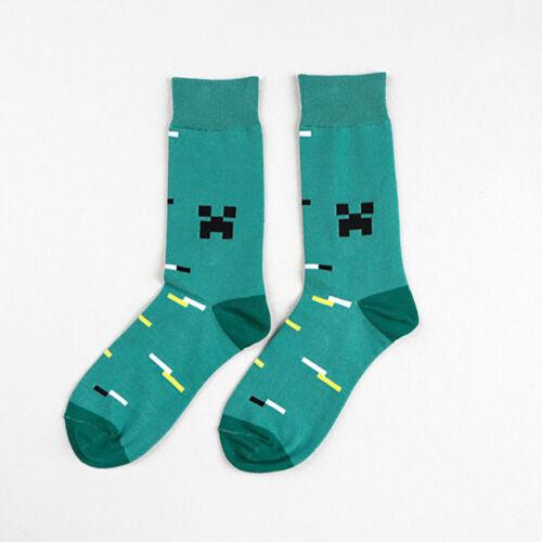 1 Pair Men Fashion Artsy Long Socks Cotton Casual Dress Funny Colorful Boot Sock