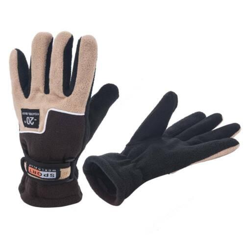 Polar Fleece Thermal Warm Soft Liner Gloves Men Women Mechanic Wear Work Driving