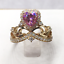 1-50Ct-Heart-Cut-Pink-Sapphire-Crown-Queen-Engagement-Ring-14K-Yellow-Gold-Over thumbnail 5