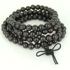 108 Beads Sinking Agarwood/Agilawood Bracelet Necklace Meditation Vietnam 水沉香