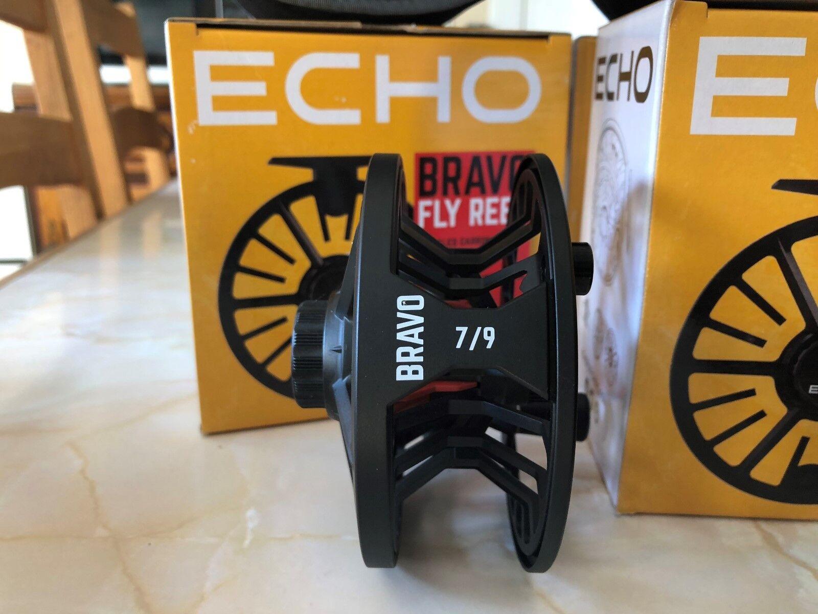 Echo BRAVO Large Sealed Arbor Sealed Large Drag Trout, Salmon & Saltwater Fly Fishing Reel 865a5b