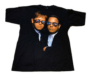Elton John Billy Joel 90s Vintage Tee 1990s Elton John Tour T-shirt