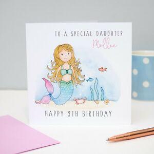 LARGE PERSONALISED TINKERBELL CHRISTMAS CARD GRANDDAUGHTER NIECE GODDAUGHTER SIS