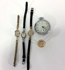 Vintage Watch Lot Ruhlo Johnson Munroe Timex Keyes Sold AS IS for Parts Repair