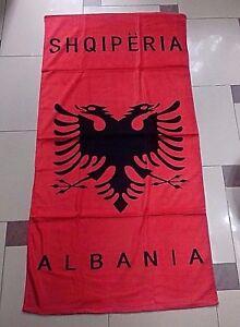 New Albania Shqiperia Eagle Red Bath Towel-peshqir-albanian Souvenir-140 X 70 Cm Cadeau IdéAl Pour Toutes Les Occasions