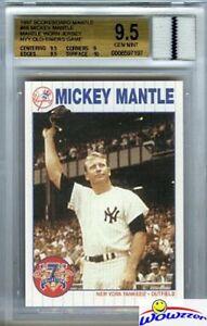 1997-Scoreboard-66-Mickey-Mantle-YANKEES-WORN-JERSEY-BGS-9-5-GEM-MINT-GGUM