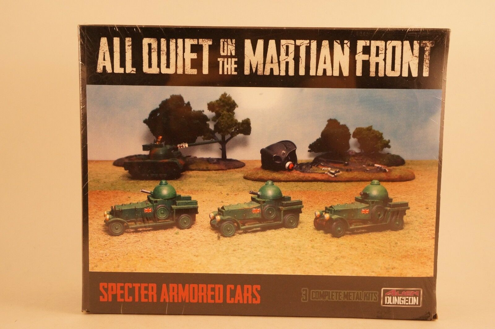 15mm WWI British SPECTER ARMORED CARS All Quiet on Martian Front Alien Dungeon